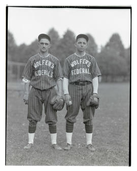 Two baseball players for Wolfer's Federals