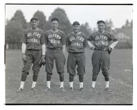 Four baseball players for Wolfer's Federals