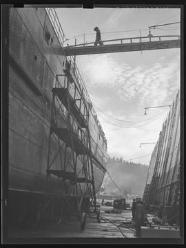 Dry-dock ship at Port of Portland