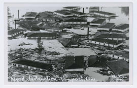 Flooded apartments during the Vanport flood