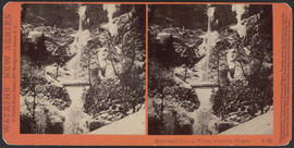 """Multnomah Falls in Winter, Cascades, Oregon"" (Stereograph E38"