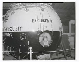 Unidentified girl in gondola of Explorer II high-altitude balloon