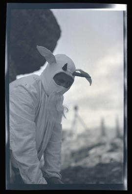 William L. Finley in a goat costume