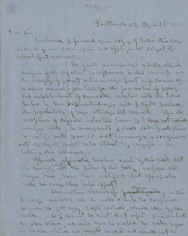 Copy of Letter to Gov. Stevens