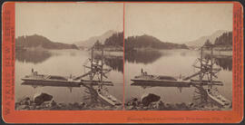 """Floating Salmon wheel Columbia River Scenery, O'gn."" (Stereograph E14)"