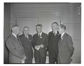 Five unidentified men at convention