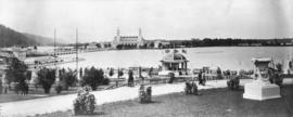Bandstand and terrace at Lewis and Clark Centennial Exposition, 1905