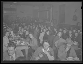 Dining room at Columbia Aircraft Industries, employee club