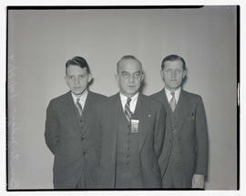 Judges Donald T. Templeton, F. L. Phipps, and Fred Reynolds at convention