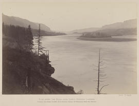 """View down the River from the Lower Cascades Landing."""