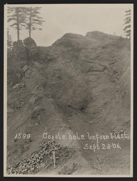 Coyote Hole Before Blast, near Stevenson, Washington