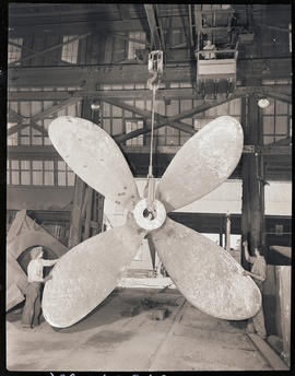 A steel propeller at Columbia Steel Casting Company