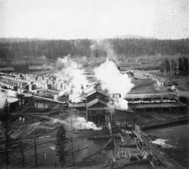 Okanogan lumber mill.  Second panel of two panel panorama