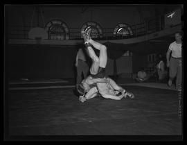 Wrestlers at Multnomah Athletic Club