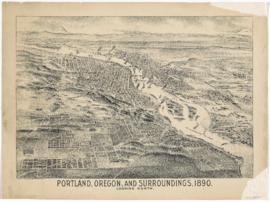 Portland, Oregon, and Surroundings, 1890, Looking North