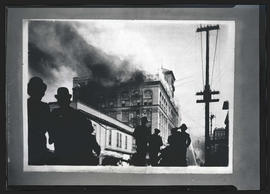 Photograph of burning building