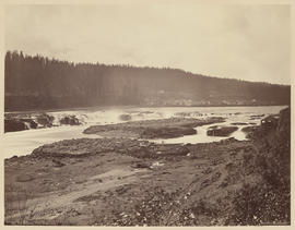 """Canemah and the Willamette Falls, Oregon. From former site of Linn City."" (Mammoth 409)"