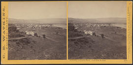 """Dalles City, Columbia River. View from the East."" (Stereograph 1304)"
