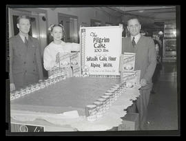 Meier & Frank employees? with 100-pound cake