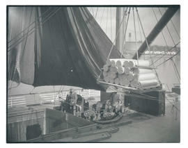 Cargo being loaded onto ship