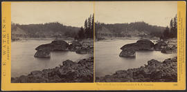 """View on the Columbia River from the O.R.R. Cascades."" (Stereograph 1292)"
