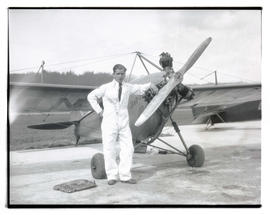 Unidentified man with airplane
