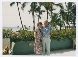 Robert C. Belloni with Faye Dement near unidentified beach