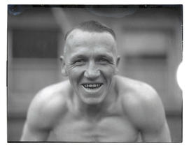 Unidentified man, possibly a boxer