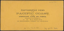 "Verso of, ""Officer's Quarters O.S.N. Co., Dalles City, Columbia River."" (Stereograph 1311)"
