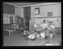 Students at old Lents School, Portland