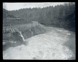 Cazadero Dam, during flood