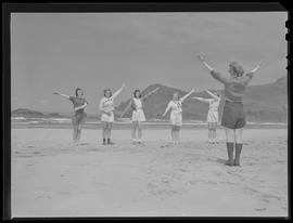 Girl Reserves on beach at Camp Westwind