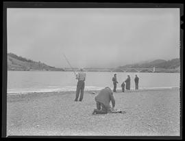 People fishing near Rogue River Bridge