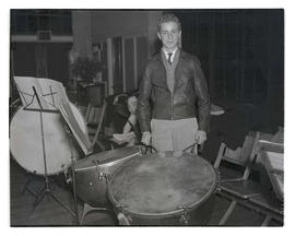 Young man with timpani