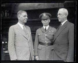 Secretary of War George Henry Dern, Brigadier General James Kelly Parsons, and Major General Mali...