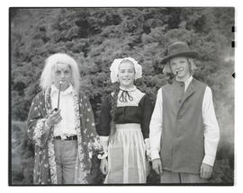 Three Ainsworth School students in costume