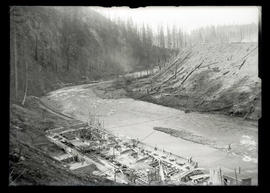 Cazadero Dam, powerhouse foundation