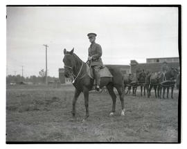 Captain W. W. Crawford on horseback