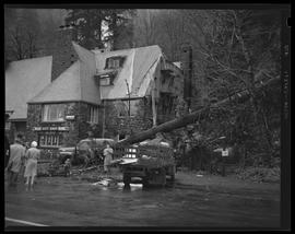 Multnomah Falls Lodge, damaged by falling tree