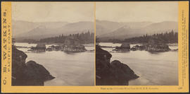 """View on the Columbia River from the O.R.R. Cascades."" (Stereograph 1290)"