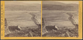 """Indian Camp at the Head of the Dalles. Columbia River."" (Stereograph 1326)"
