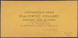 "Verso of, ""Betsey Baker, Cascades, Columbia River."" (Stereograph 1251)"