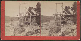 """Salmon wheel, Columbia River Scenery, O'gn."" (Stereograph E13)"