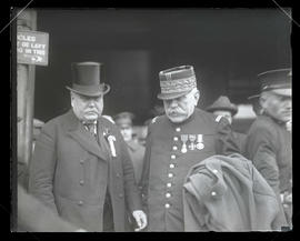 Samuel Hill and Marshal Joseph Joffre of France at Union Station, Portland