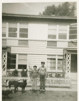 Dale Skovgaard and Vincent in Vanport, Oregon