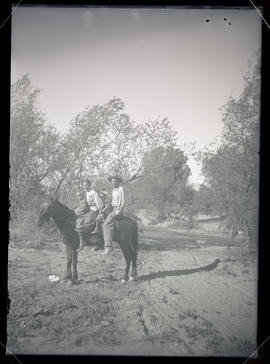 William L. Finley and family on horseback
