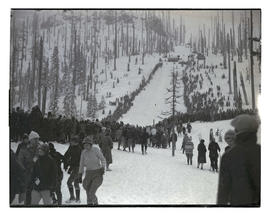 Crowd at Multorpor ski-jump hill
