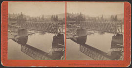 """Hood River Crossing, Columbia River Scenery, Oregon."" (Stereograph E17)"