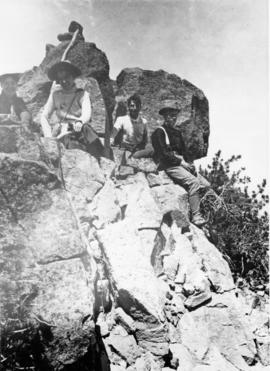 Climbing party on Mt. Scott