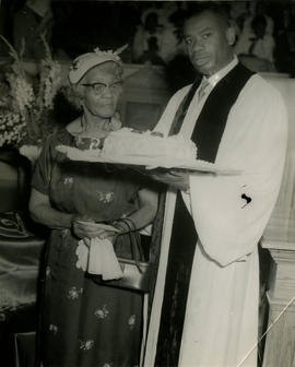 Rev. O.B. Williams and Sarah Ann Bates celebrate Mother's Day